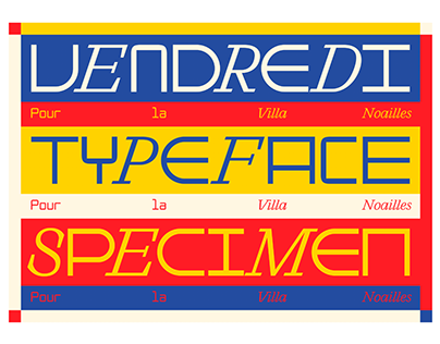 VENDREDI TYPEFACE - PARIS, FRANCE2020
