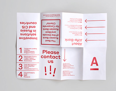 Alfa Bank print materials