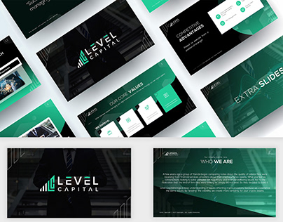 Investor Powerpoint template design 2020