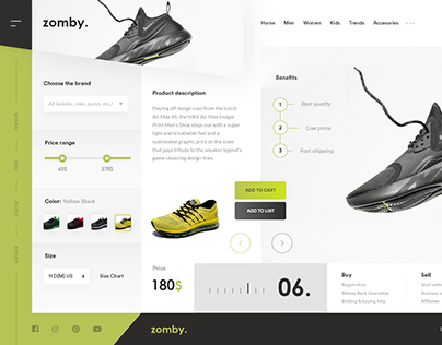 Zomby - Online store of Sports shoes !