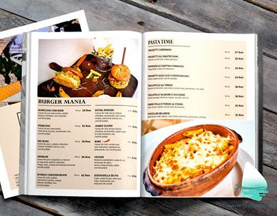Urban Restaurant menu design.