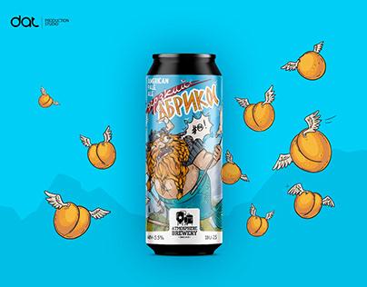 Craft beer label. Сheeky apricot