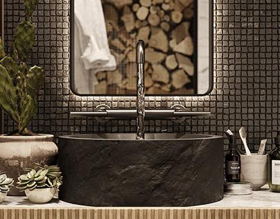 HUDSON APARTMENT   SECOND BATHROOM