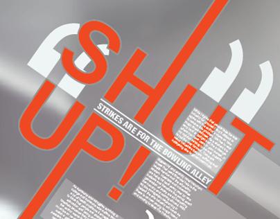 Shut up - opinion poster