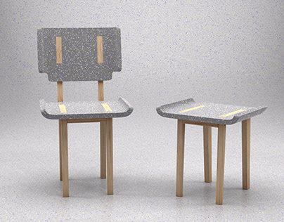 Recycled plastic chair / stool