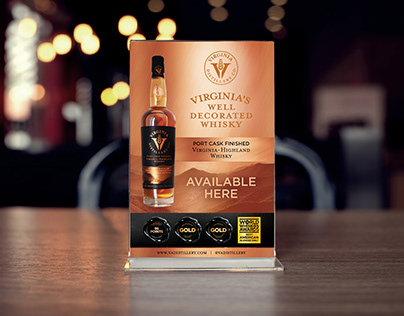 Virginia Distillery Co - Point of Sale Materials