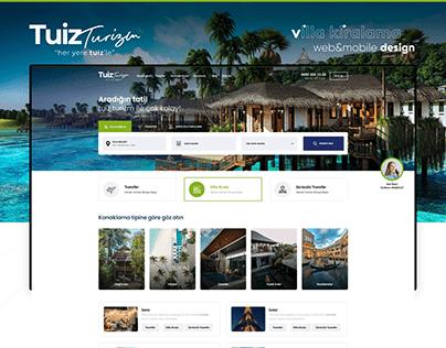 TuizTurizm - Villa & Konaklama Kiralama Web Design