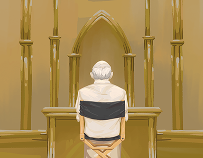 Editorial Illustration: The Pope in films and TV