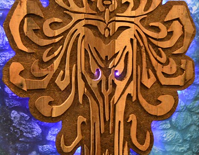Haunted Mansion wood work