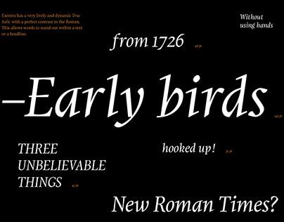 Exentra typeface