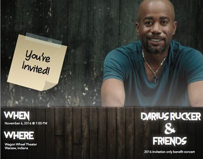 Darius Rucker and Friends: Brochure, Invitation, Poster