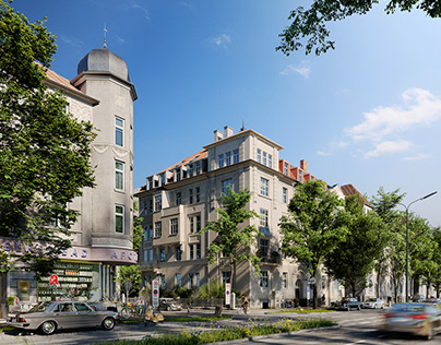 CGI:Reconstruction of a building in Germany