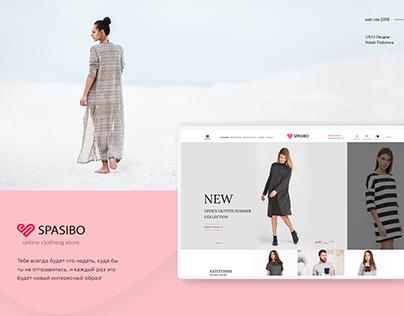 SPASIBO - brands online store, UX/UI