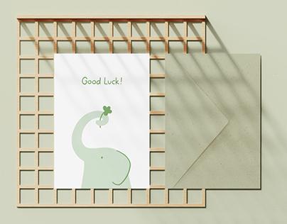 Eökke — Eco Greeting Card — Good Luck