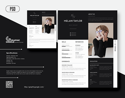 Free Modern CV-Resume With Cover Letter For Designers