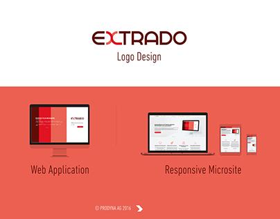 EXTRADO branding, web portal. responsive website