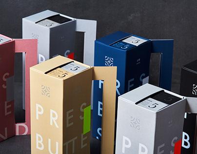 PRESS BUTTER SAND Sleeve Packaging Design