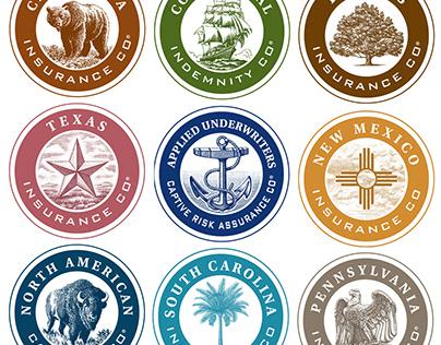 Applied Underwriters Logomarks rendered by Steven Noble