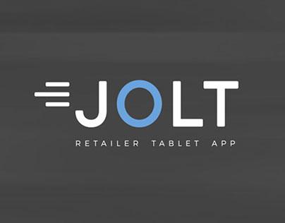 Jolt Retailer Tablet App UI Design