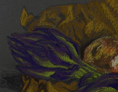 still life with artichokes