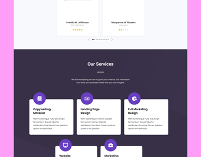Landing page with Elementor