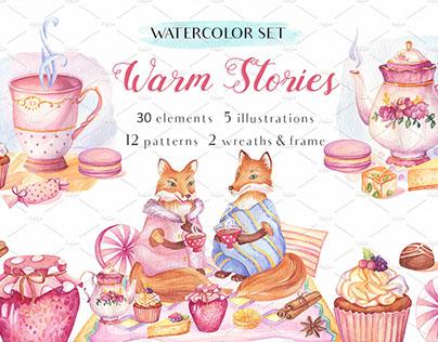 Warm Stories - Watercolor Set