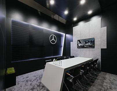Mercedes. Изготовление мебели и оформление переговорных
