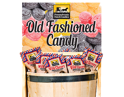 Sanded Candy Barrel Display