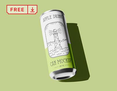 Free Can Mockup