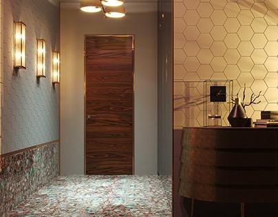 3D concrete tile #13, brand ASHOME