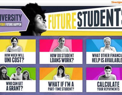 Student Finance - Make Your Future Happen Website