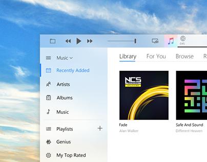 iTunes for Windows with Fluent Design