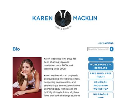 Yoga / Writing Website