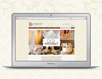 Creations By Ly Web Redesign & Promotional Design