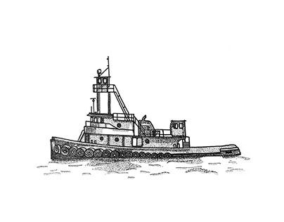 Tugboat Illustration