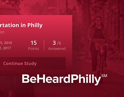 BeHeardPhilly Web App
