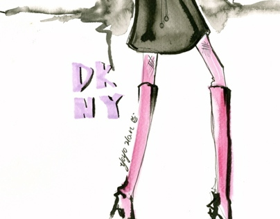 DKNY collection project designed by yoyo han