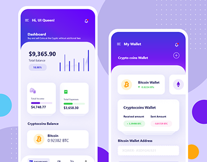 Mobile UI kit for Banking Apps & Crypto Wallets