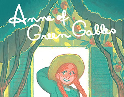 Anne of Green Gables illustrated book cover