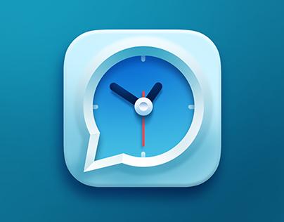Speaking Clock IOS Icon Design