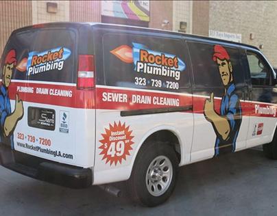 Rocket Plumbing Service Van