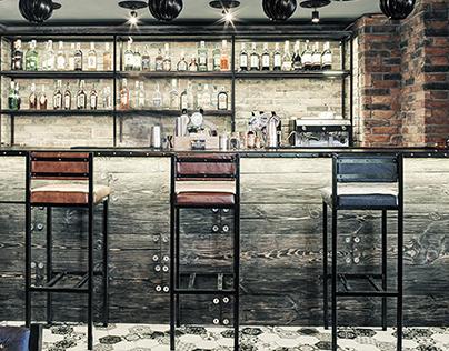 Industrial bar with selfie rockstars
