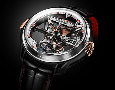 3D Renders of Franc Vila FVF Superligero Skeleton Watch
