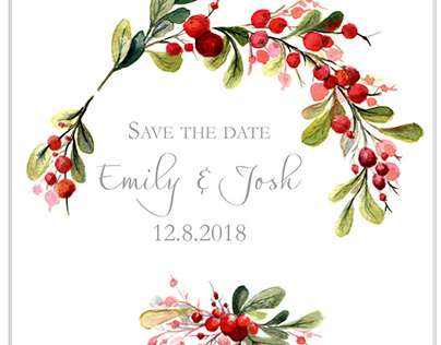 Red Save the Date