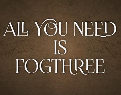 Fogthree & FogthreeACL fonts