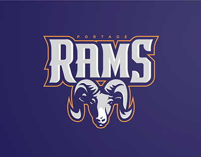 Portage Rams Sports Brand Identity and Logo Redesign