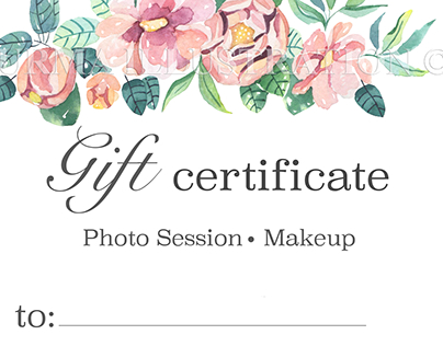 Watercolor Gift Certificate | Photo Session & Makeup