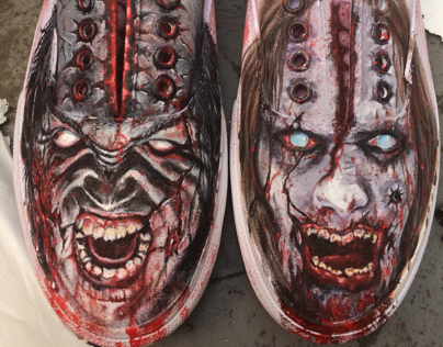 Custom painted zombie vans