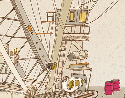 Cranes | digital illustration