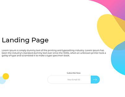 Cool Landing Page UI